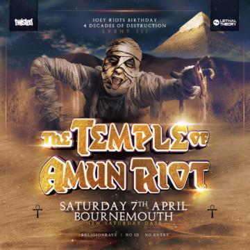 """Religion Event III """"The Temple of Amun Riot"""" – Joey Riot Birthday"""
