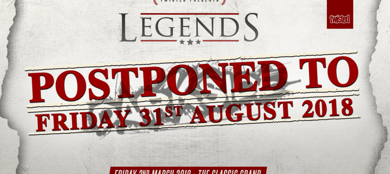 Darkside Legends: POSTPONED TO THE 31.08.18