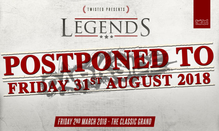DARKSIDE LEGENDS: POSTPONED TO THE 31.08.18 DUE TO SNOW STORM