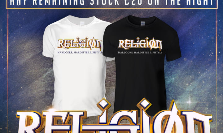 EXCLUSIVE RELIGION T-SHIRTS ONLY AVAILABLE WITH VIP TICKET