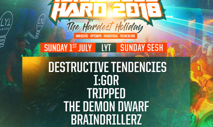 IBIZA GOES HARD – SUNDAY SESH PARTY'S LINE-UP