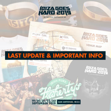 IGH 2019 – LAST UPDATE & IMPORTANT INFORMATION